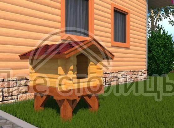 """Кошачий домик из минибруса """"Маркиз"""" - 786х686х1130"""