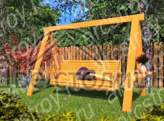 Качель садовая  3х1,6х2 м