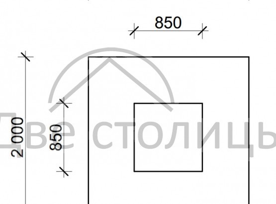Элемент площадки Песочница 2х2м