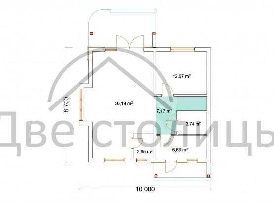 "Дом ""Melie A-07"" 8.7x10"