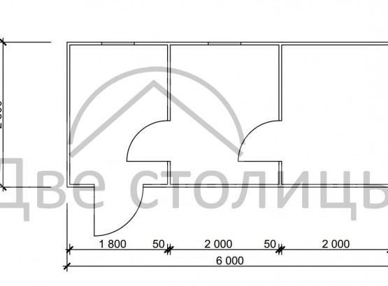 Баня каркасная 2.3х6 «Б23-6Д»