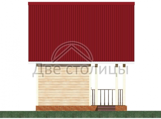 """Дачный домик из бруса 4х5 с террасой """"Д-25"""""""