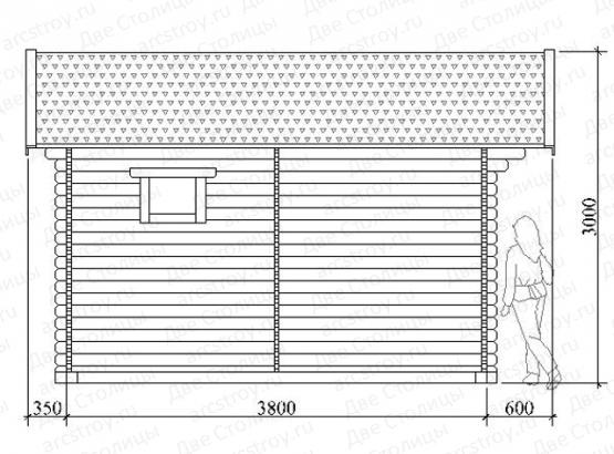 Баня «Комфорт 6.0» 3,8х3,8 м.