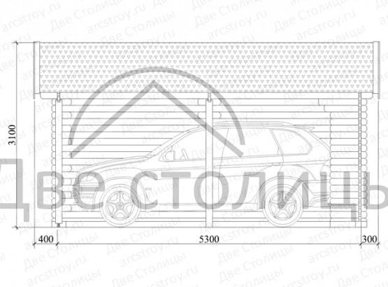 Навес для автомобиля 1.0 3,8х5,3 м.
