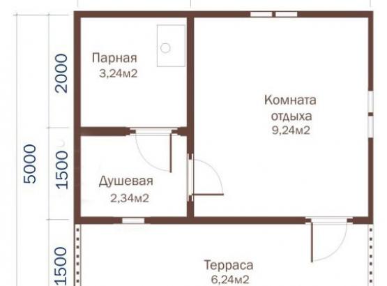 Б-16, баня 5х5