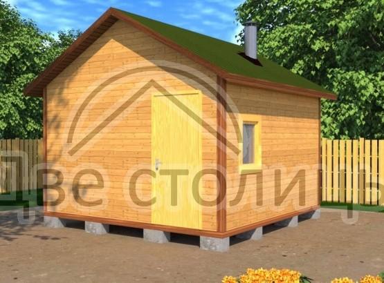 Баня каркасная 4х4 «Б4-4Д»