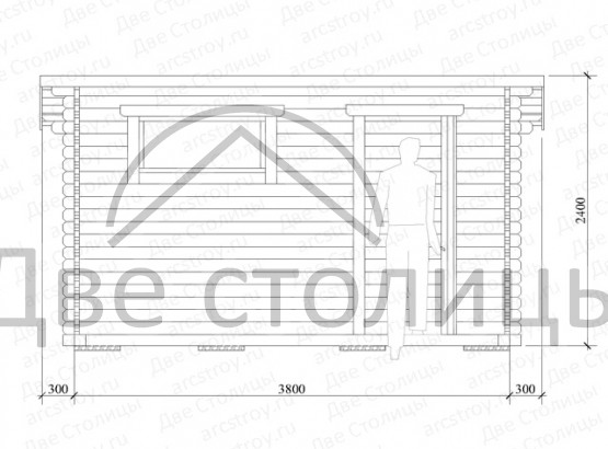 Мастерская, кладовка, садовый домик 2х4м
