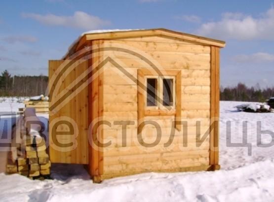 Мобильная баня из бруса 4х2,3