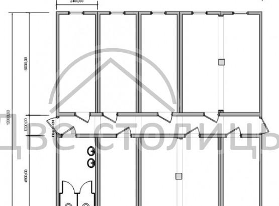 Одноэтажное модульное здание «Жилблок»