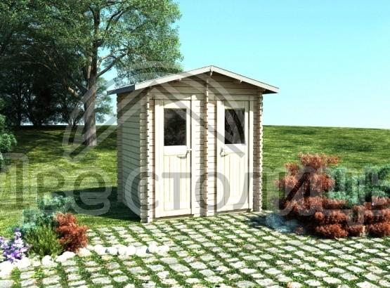 "Туалет-душ из мини-бруса ""1,8х2,8м"""