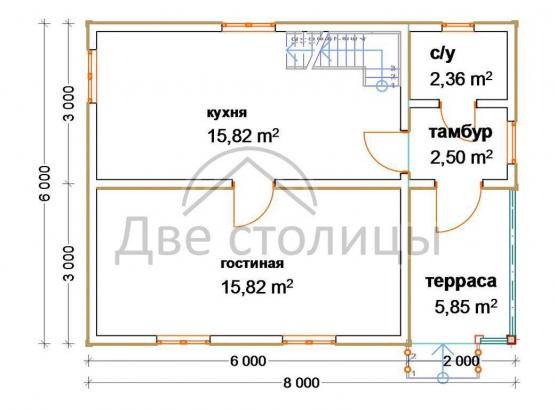 """Дом с мансардой """"Стандарт-3"""""""