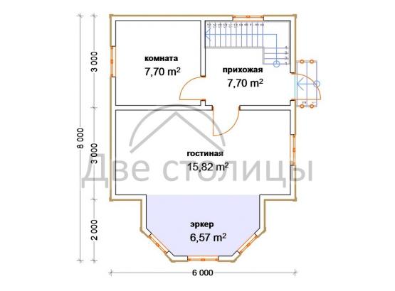 """Дом с мансардой """"Стандарт-5"""""""