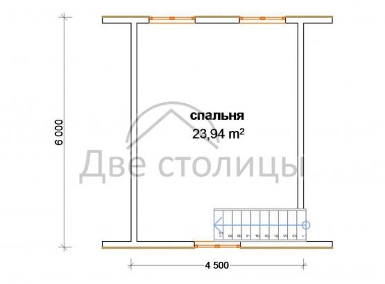 """Дом из бруса 6х6 """"Д-13"""""""