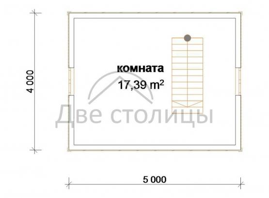 "Дом из бруса 4х5 с мансардой ""Д-1"""