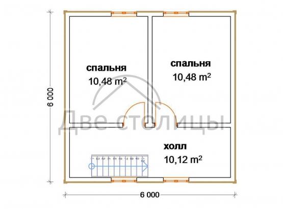 """Дом с мансардой """"Стандарт-7"""""""