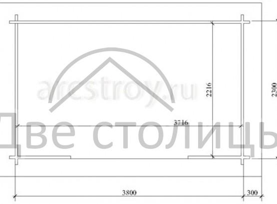Беседка - 3 (2,5х4м)