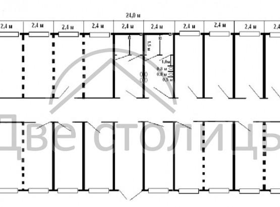 Одноэтажное модульное здание «Жилкомплекс»